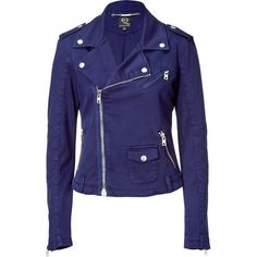 I love this jacket! MCQ ALEXANDER MCQUEEN Electric Blue Jacket, found on polyvore.com