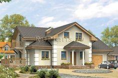 Проект дома с мансардой и гаражом R409