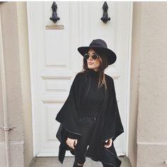All black hat girl