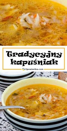 Soup Recipes, Cooking Recipes, Good Food, Yummy Food, Polish Recipes, Tortellini, Curry, Food And Drink, Meals