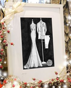 Christmas is getting closer now. Luckily, you still have time to order an illustration from Irish artist, Audrey Vance for a Santa delivery. The order book is filling up but have a few spaces left for December 25th delivery. Be happily surprised this Christmas morning. www.weddingdressink.com/new-shop #christmasgift2020 #irishchristmasgift #irishmadegift