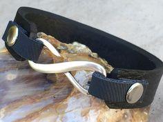 FREE SHIPPING-Mens Bracelet,Mens Leather Bracelet,Engraved Leather Bracelet,Infinity Bracelet,Mens Custom Bracelet,Personalized Bracelet