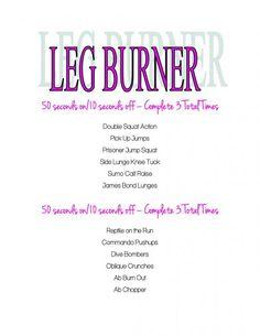 Leg Burner