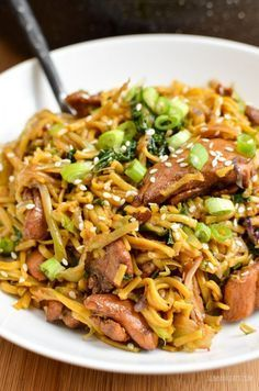 Slimming Eats Asian Chicken with Noodles - gluten free, dairy free, Slimming World and Weight Watchers friendly