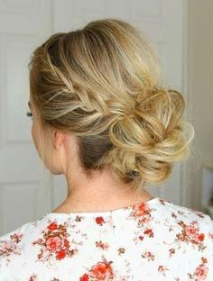 20 Easy Updos For Medium Hair Frisuren Lange Haare Dutt Frisur