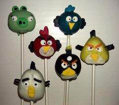 Angry Birds Cake Pops by: Stick a Cake In It