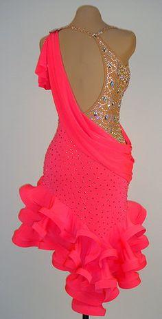 Latin pink dress back