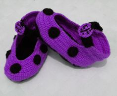 Crocheted Children Lady Bird Slippers are made by HobbyJoyDesign, $20.00