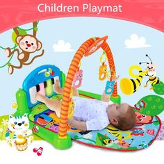 3 in 1 Rainforest Musical Lullaby Baby Activity Playmat Gym – mybabyclothingstore