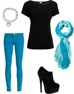 """black and blue"" by brooke-summers on Polyvore"