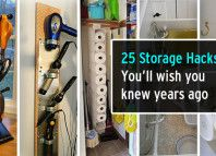 25 Brilliant Storage Hacks That You'll Wish You Learned Years Ago