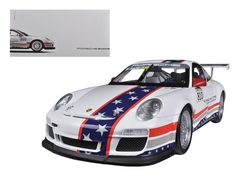 Porsche North America Team 911 GT3 CUP USA # 810 Museum Collection 1/18 Diecast Car Model by Welly