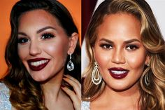 Oscars 2015 - Chrissy Teigen Makeup Tutorial - Neutral Eyes and Burgundy...