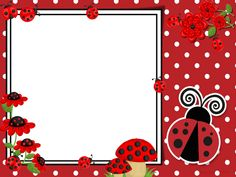 Borders And Frames, Classroom Crafts, Stationery Paper, Ladybugs, Journal Cards, Scrapbook Pages, Party Planning, Vintage Photos, Crafts For Kids