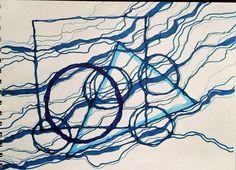 нейрографика синий