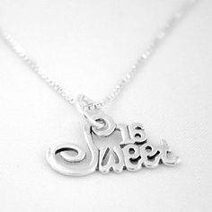 Treat a special Birthday Girl to our Sterling Silver Sweet 16 Necklace. Makes the perfect 16th Birthday gift!