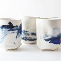 studio joo altered porcelain  tumblers