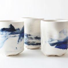 studio joo altered porcelain tumblers