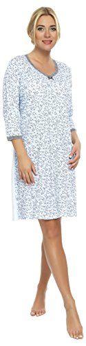 Italian Fashion IF Camicie da Notte da Donna Adela (Blu Chiaro, XL) Italian Fashion by Guazzone http://ebay.to/1ME7pvn