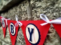 All American Vintage Style Baseball Party Banner, Baseball Baby Shower, Baseball Birthday Party--- Banner