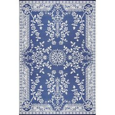 Mad Mats Oriental Garland Blue and White Rug Rugs Decor, Blue Rooms, White Decor, White Rug, Affordable Area Rugs, Blue White Decor, Area Rugs, Blue And White, Blue And White Rug