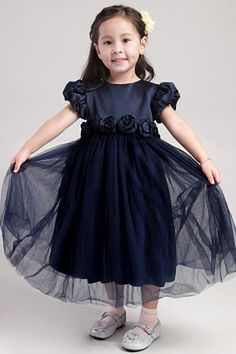 Beautiful A-line Scoop Ankle-length Satin and Tulle Handmade Flowers Short Sleeves Flower Girl Dress Designer Flower Girl Dresses, Flower Girl Gown, Toddler Flower Girl Dresses, Princess Flower Girl Dresses, White Flower Girl Dresses, Little Girl Pageant Dresses, Girls Dresses, Bridal Dresses, Bridesmaid Dresses