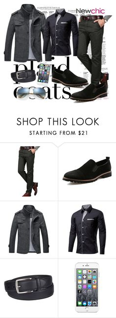 """Newchic 20"" by esma-osmanovic ❤ liked on Polyvore featuring Columbia, Maison Kitsuné, Ray-Ban, men's fashion and menswear"