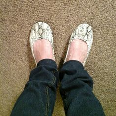 Faux snakeskin flats Max Azria Miley Cyrus style flats with rubber soles. New without tags. Max Azria Shoes Flats & Loafers