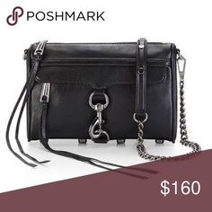 Gorgeous Black Leather Tassel Crossbody💋 Beautiful bag!! 😍😍😍 Its was only used a few times and is in excellent condition. Jet black with silver toned chain and hardware. The inside is damask prints. *First photo is only a stock photo* MAC Cross body. Please ask any questions! Rebecca Minkoff Bags Crossbody Bags