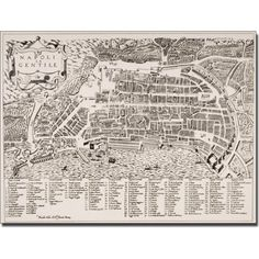 Trademark Art 'Map of Naples, 1600' Canvas Art, Size: 18 x 24, Multicolor
