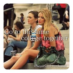 College and university is the place where friends usually split ways, but even if we do end up in different colleges we can still meet up in free time!!  ~ @p_u_r_p_l_e - @bestfriend_bucketlist- #webstagram