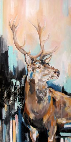 Check it out! Deer Painting Animal Art by Marie-Eve Arpin - Art https://www.facebook.com/MarieEveArpinArt?ref=hl