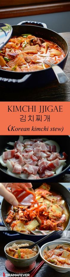 Authentic How to Make Kimchi Stew, Kimchi Jjigae (김치찌개), ,