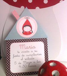 Image of Invitaciones personalizadas CAPERUCITA-Customized cards