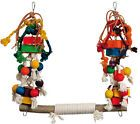 Jumble Stack Swing Parrot Swing with Blocks Large Macaw Cockatoo on eBay for £23.99