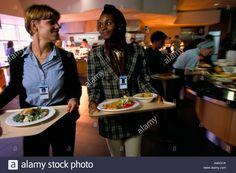 Download this stock image: Staff restaurant in a major corporate HQ, Dublin - A4AG1A from Alamy's library of millions of high resolution stock photos, illustrations and vectors.