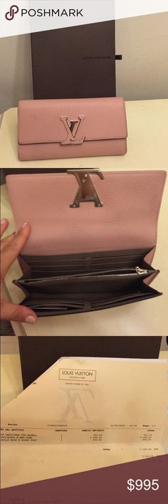 Louis Vuitton CAPUCINE WALLET Louis Vuitton Handbags Pinterest - make a receipt free