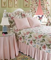 Cottage Garden Quilted Bedspread