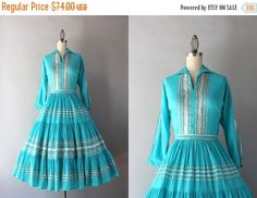 STOREWIDE SALE vintage 50s dress / 1950s Ithaca by HolliePoint