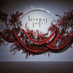 Curve and Concave design inspiration. Wedding Stage Backdrop, Wedding Backdrop Design, Wedding Stage Design, Wedding Designs, Backdrop Decorations, Backdrops, Wedding Decorations, Backdrop Ideas, Red Wedding