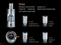 Official Authorized Smok TFV4 Tank: The replacement atty heads of SMOK TFV4 http://blog.tfv4.com/2015/12/the-replacement-atty-heads-of-smok-tfv4.html
