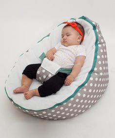 Gray Polka Dot Beanbag Seat