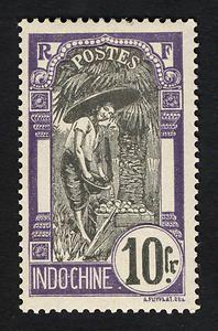 10fr Cambodian Woman single, Cambodia, 1907