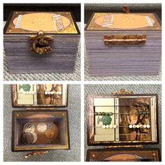I improved upon my original Magic the Gathering box! It has a life counter and… Nerd Crafts, Fun Crafts, Diy And Crafts, Magic The Gathering, Craft Gifts, Diy Gifts, Mtg Art, Deck Box, Magic Cards