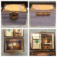 I improved upon my original Magic the Gathering box! It has a life counter and it's bigger and deeper. #mtg