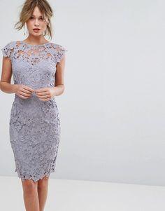 Shopping ideas for semi-formal wedding guest dresses. Shopping ideas for semi-formal wedding guest dresses. Trendy Dresses, Elegant Dresses, Sexy Dresses, Beautiful Dresses, Fashion Dresses, Dance Dresses, Asos Dress, Lace Midi Dress, Gray Dress