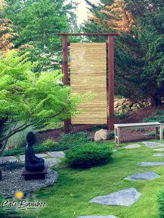 DIY zen garden ideas - create a relaxing backyard with bamboo fencing from Cali Bamboo.
