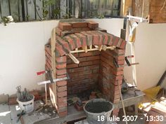 Cuptor de grădină - Capisci Outdoor Fireplace Patio, Outside Fireplace, Outdoor Kitchen Patio, Outdoor Patio Designs, Outdoor Oven, Outdoor Kitchen Design, Barbecue Garden, Outdoor Barbeque, Backyard Barbeque