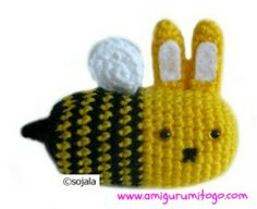 crochet moshimoshi black and yellow Bee