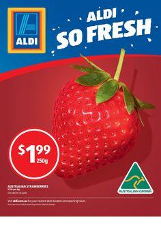 Aldi: June, 2016, Victoria, Australia Victoria Australia, Strawberry, June, Fresh, Marketing, Food, Essen, Strawberry Fruit, Meals